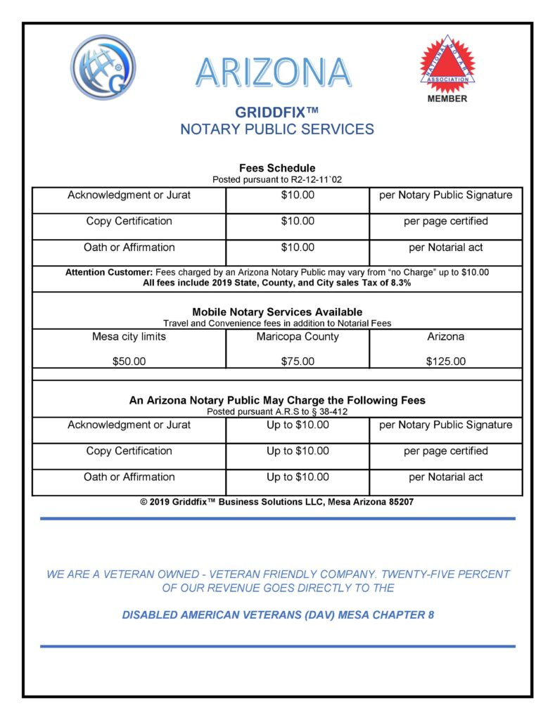 Fees for Service